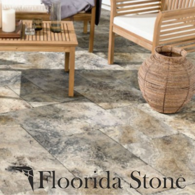 Floorida Stone supplies Antico Onyx Travertine Paver